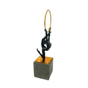 Escultura Decorativa em Resina - 43x13x11cm