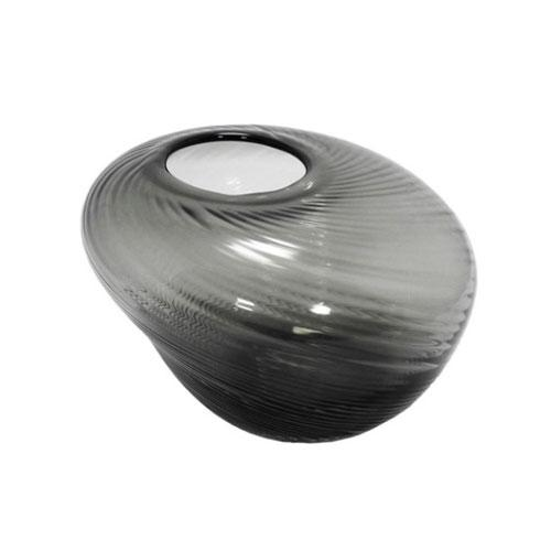 Vaso Decorativo em Vidro Preto - 15x20x20cm
