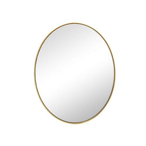 Espelho Oval com Moldura Folheada a Ouro - 40x30cm