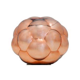 Abajur com Base em Metal Cúpula em Vidro Cor Cobre Metálico - 37x37cm