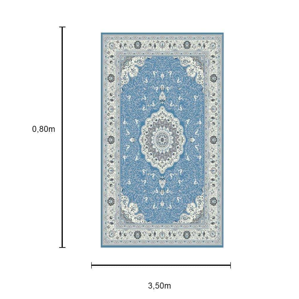 Tapete Persa Tabriz Azul - 0,80x3,50cm