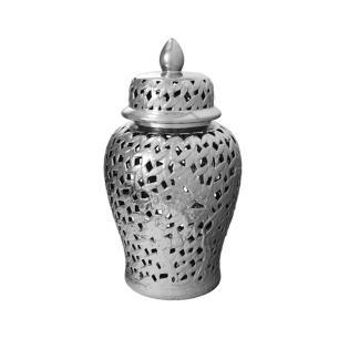 Potiche em Cerâmica Prata