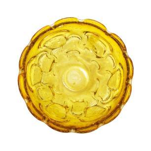 Centro de mesa em Murano Âmbar com Detalhes Dourado - 18x8x18cm
