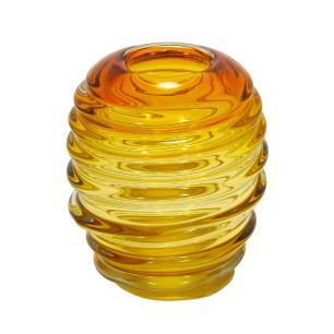 Vaso Decorativo em Vidro na Cor Âmbar - 16x20x16cm