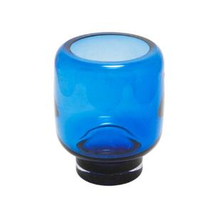 Vaso em Vidro Decorativo  em Azul - 20x15x15cm