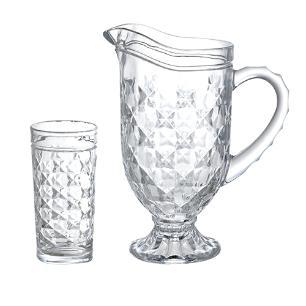 Jogo para refresco Dimona 7 pecas em cristal ecologico