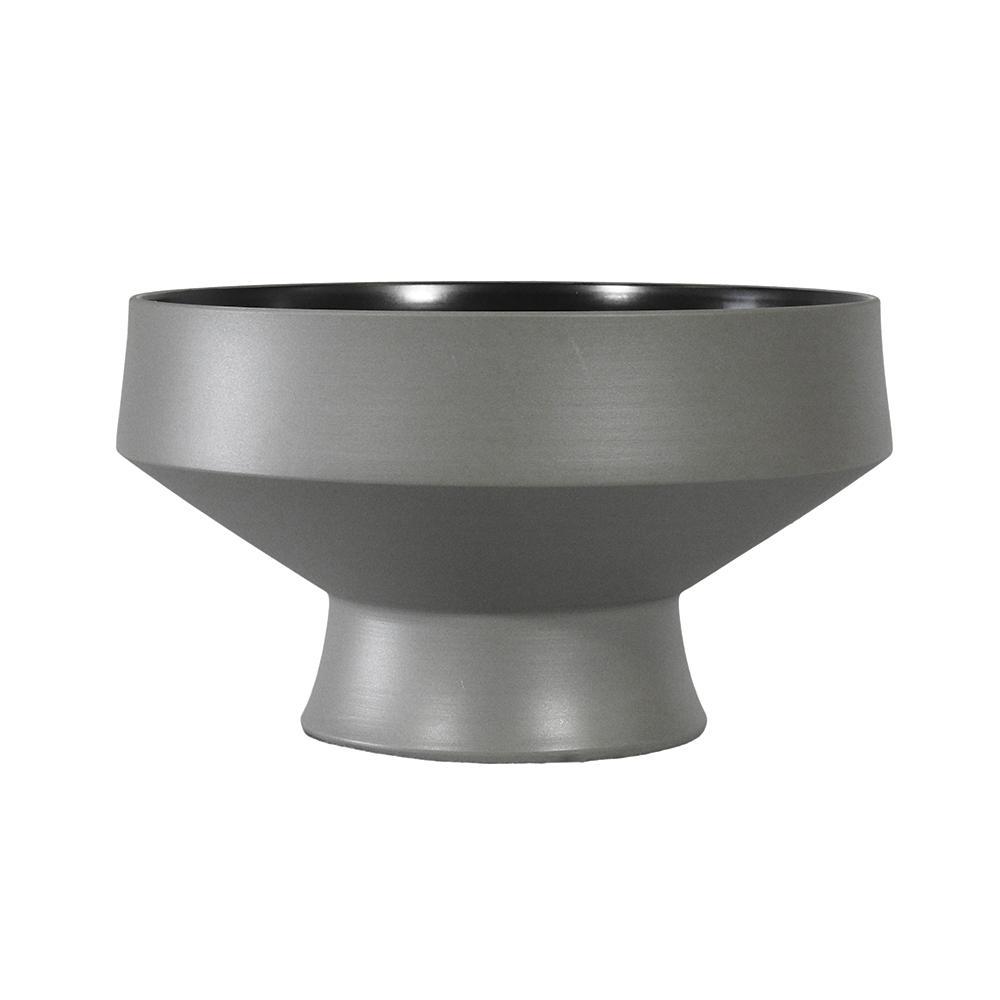 Bowl Produzido em Cerâmica Cinza - 15x25x25cm