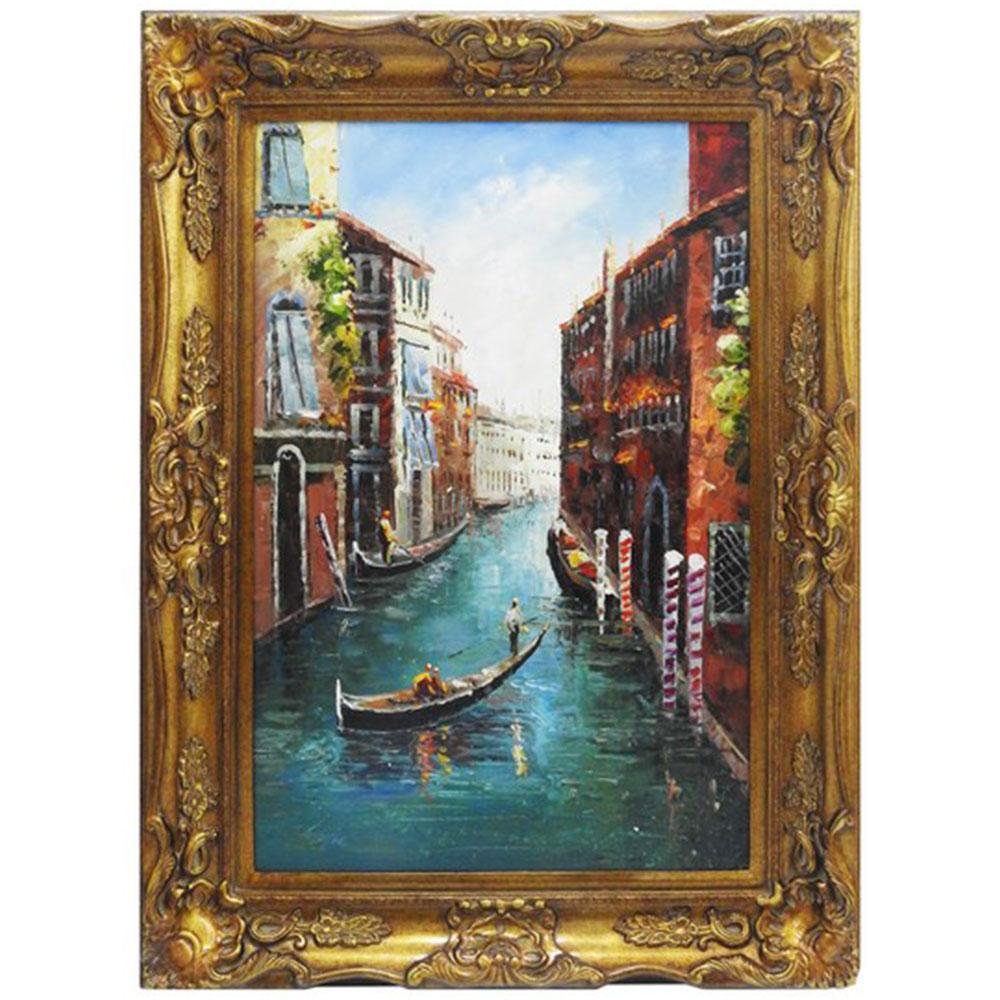 Quadro com Pintura á Óleo Veneza