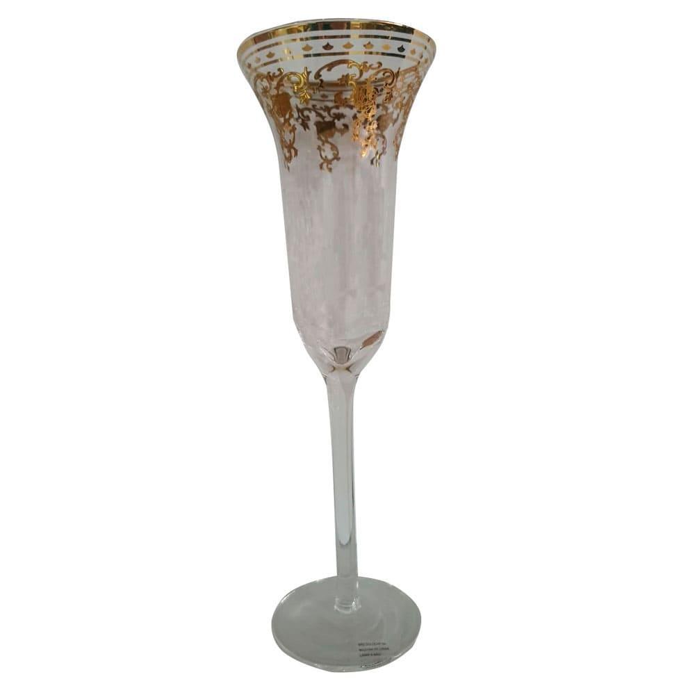 Conjunto com 6 Taças em Cristal Lapidado