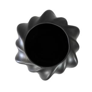 Vaso Decorativo em Cerâmica na Cor Preta - 17cm