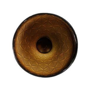 Vaso Decorativo em Vidro na Cor Marrom - 23x17cm