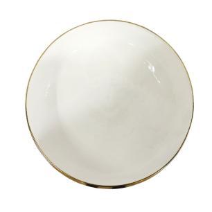 Vaso em Alumínio Dourado e Branco - 17x47cm