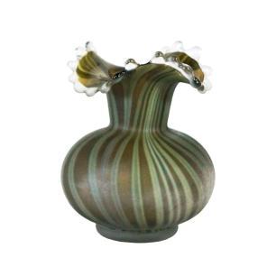 Vaso Decorativo em Vidro na Cor Verde - 22x17cm