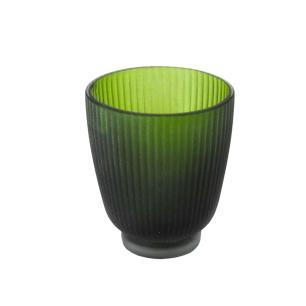 Vaso Decorativo em Vidro na Cor Verde - 10x9cm