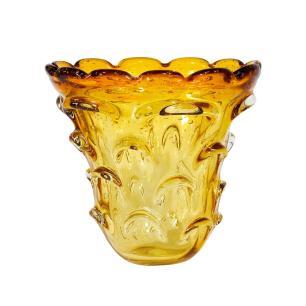 Vaso Decorativo em Murano Âmbar - 18x18cm