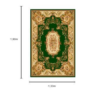 Tapete Persa com Franja Verde Claro - 133x190cm