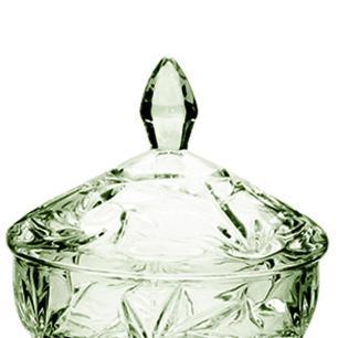 Bomboniere Decorativo Pinwheel em Cristal Verde Ecológico - 24x15cm