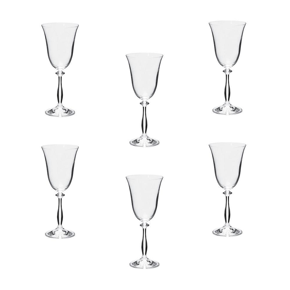 Jogo de Taças Angela em Cristal para Vinho Tinto - 6 Peças