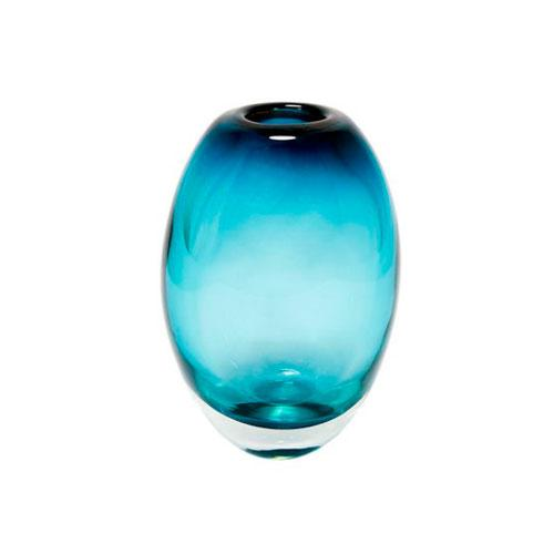 Vaso em Murano na Cor Azul Degrade - 23x15x9cm