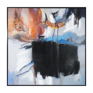Quadro em Canvas Abstrato - 105x105cm