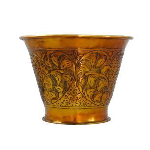 Vaso Decorativo Dourado em Alumínio - 28x39cm