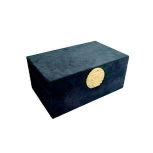 Caixa Decorativa na Cor Preto - 9x21x13cm