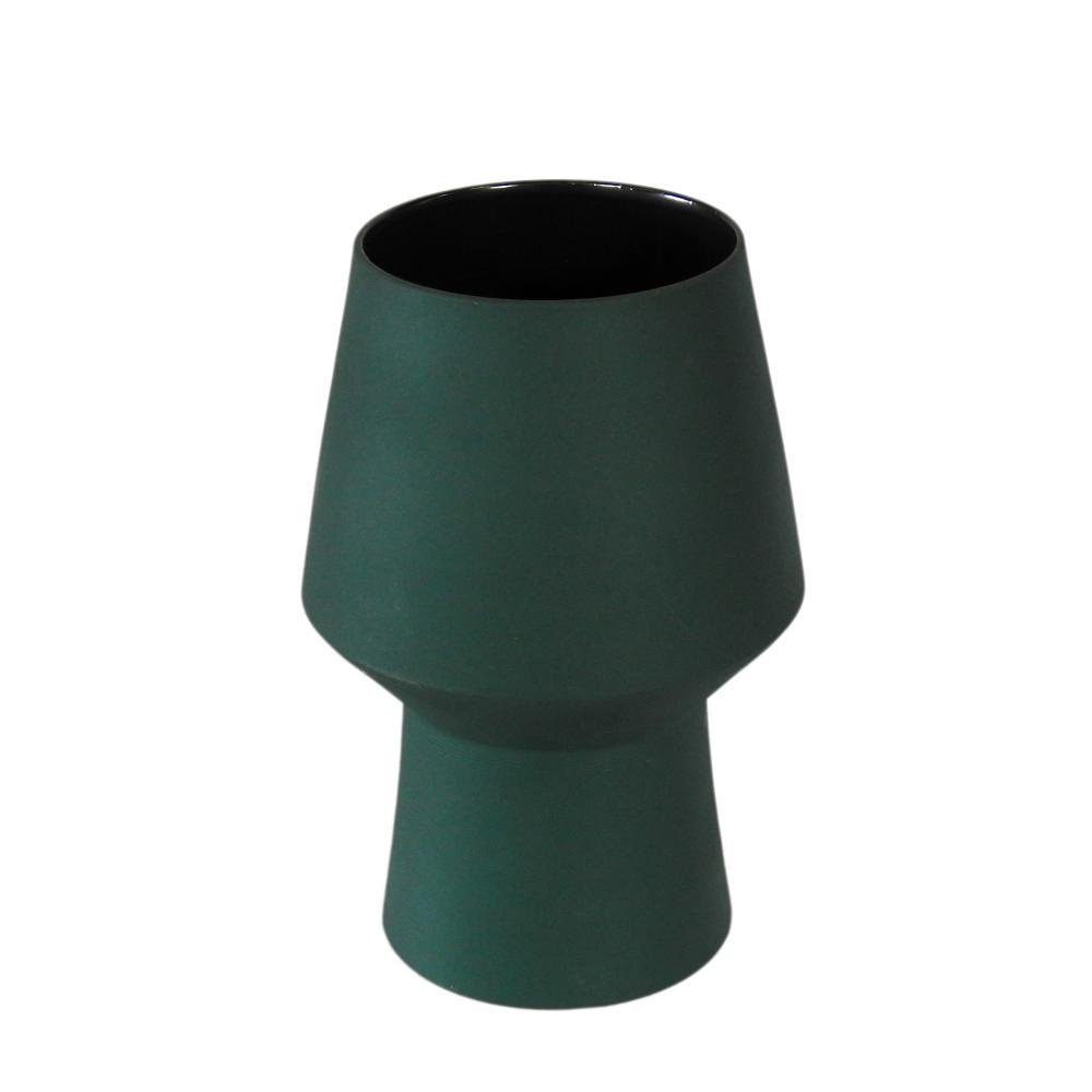 Vaso Decorativo Produzido em Cerâmica Verde - 23X13cm
