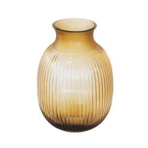 Vaso Decorativo em Vidro na Cor Marrom - 27x18cm