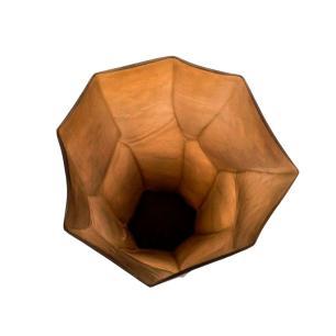 Vaso Decorativo em Vidro na Cor Marrom - 43x25cm