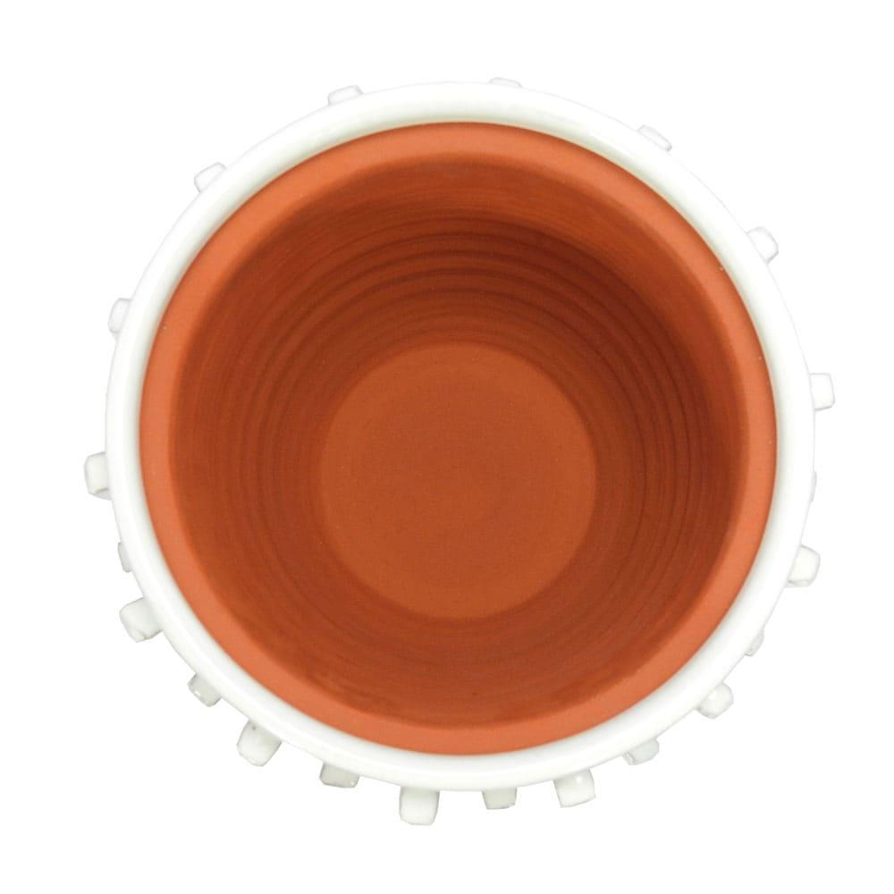 Vaso Decorativo em Cerâmica Branco - 20x22cm
