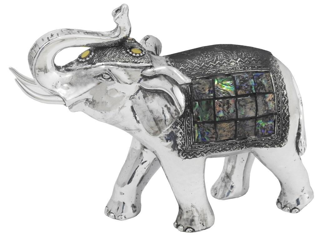 Escultura Em Resina Elefante 19 X 23 X 08