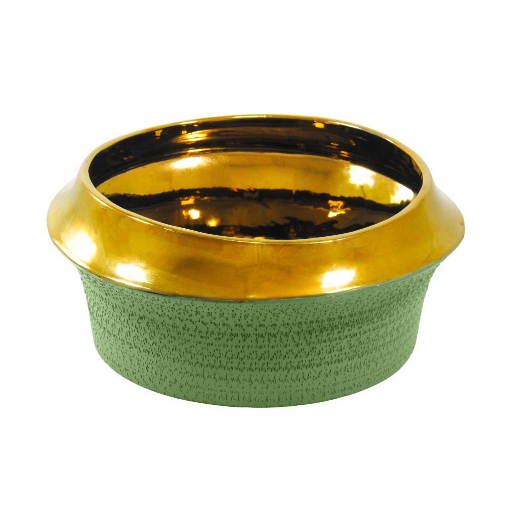 Vaso Decorativo em Cerâmica Verde - 15x32cm