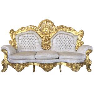 Jogo de Sofá Clássico Luis XV Imperial
