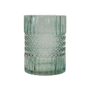 Vaso Decorativo em Vidro na Cor Verde - 20cm