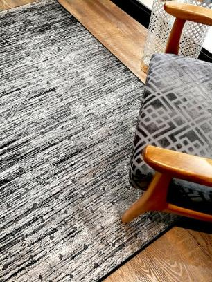 Tapete Ligno Preto com Branco - 200x250cm