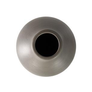 Vaso Decorativo em Cerâmica na Cor Cinza Escuro  - 38cm
