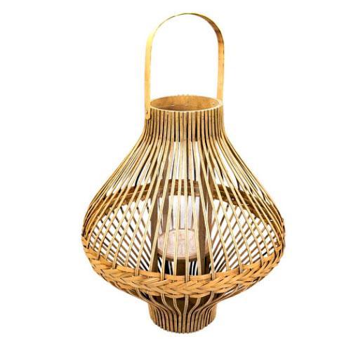 Luminária de Fibras Naturais - 68x43cm