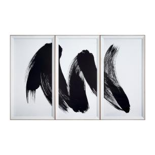Conjunto de Quadros Decorativos Abstrato - 109x174cm