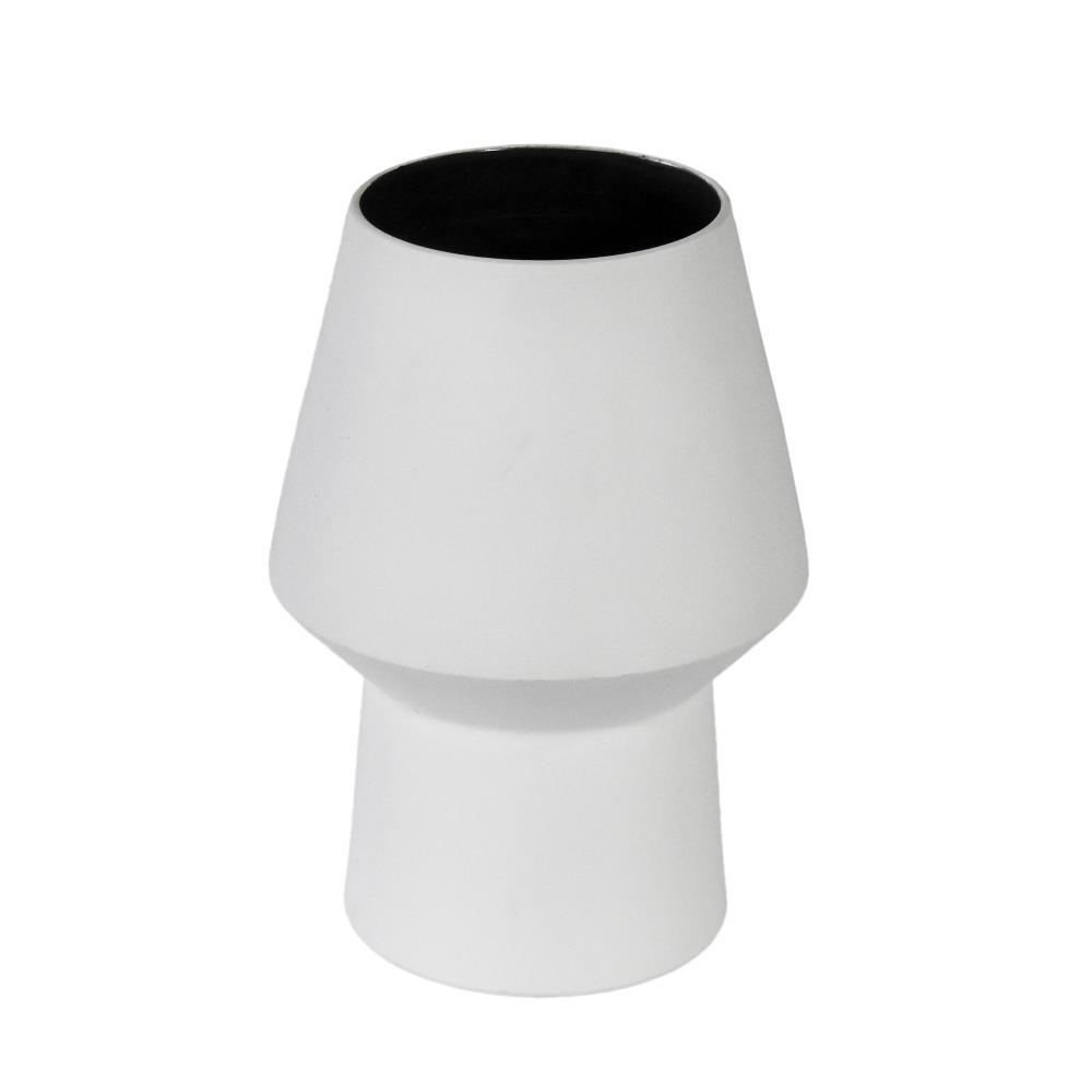 Vaso Decorativo Produzido em Cerâmica Branca - 23x13cm