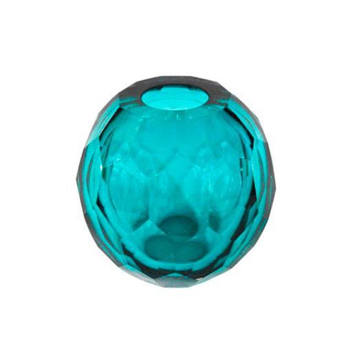 Vaso Decorativo em Vidro Azul -  14x14cm
