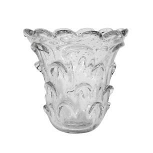 Vaso Decorativo em Murano Incolor - 18x18cm