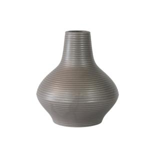 Vaso Decorativo em Cerâmica na Cor Cinza Escuro - 19cm