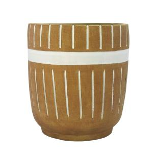 Vaso Decorativo em Cerâmica Terracota - 33x28cm