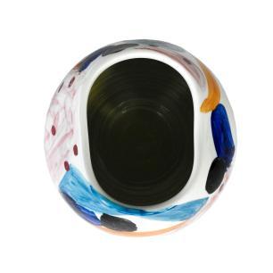 Vaso Decorativo em Cerâmica Colorida - 21x24cm