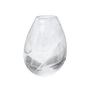 Vaso em Vidro Decorativo Translucido - 22x15x10cm