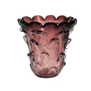 Vaso Decorativo em Murano Violeta - 18x18cm