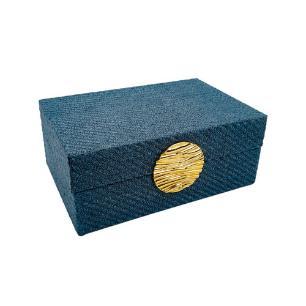 Caixa Decorativa Azul Escuro - 7,5x18x13cm