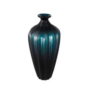 Vaso Decorativo em Vidro Azul - 43x18x18cm