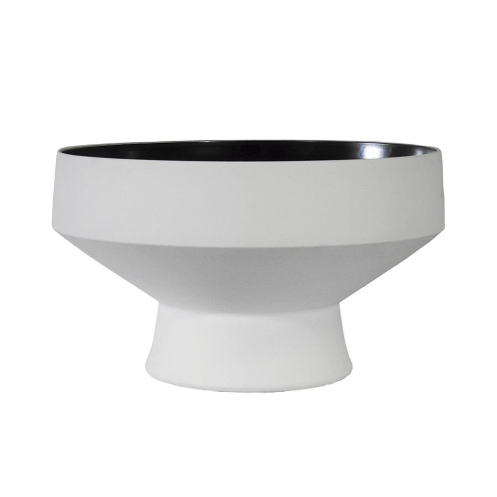 Bowl Produzido em Cerâmica Branco - 15x25x25cm