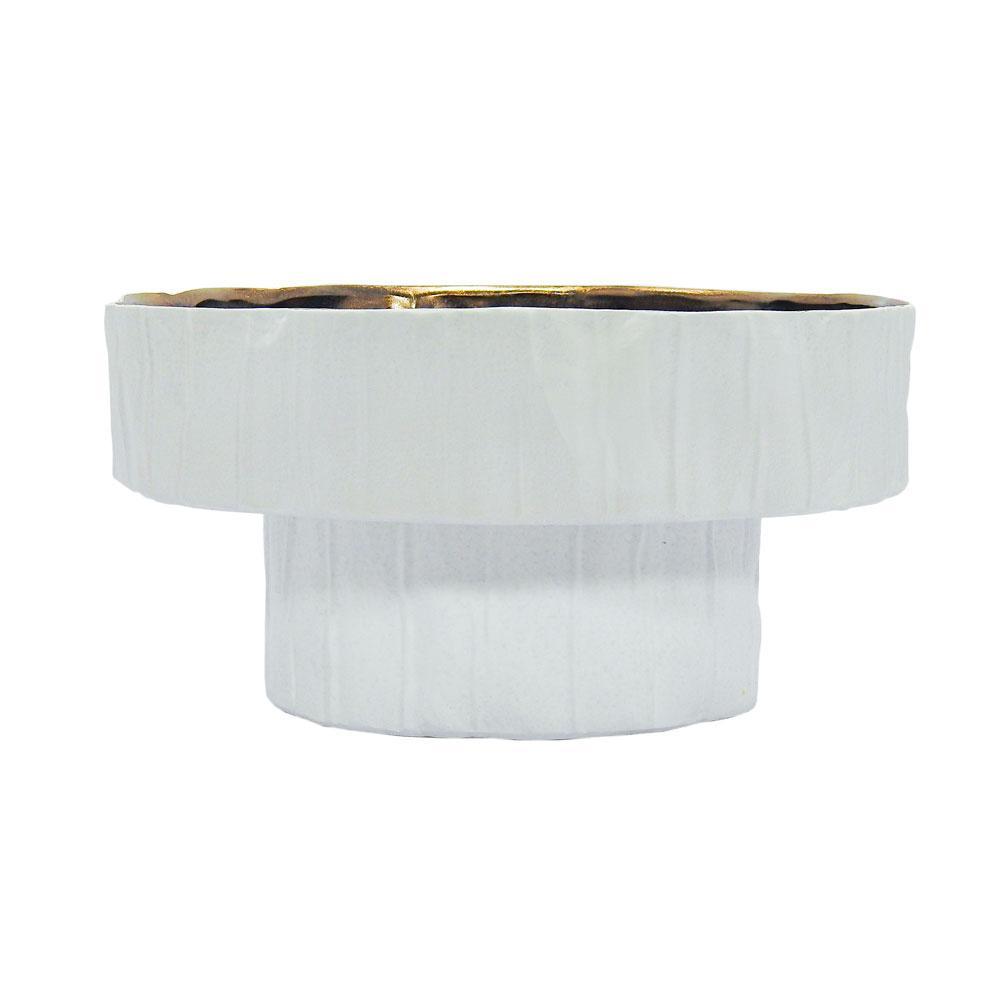 Centro de Mesa Decorativo Branco - 15x32cm
